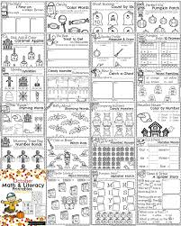 october kindergarten worksheets planning playtime