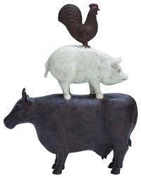 Black And White Rooster Decor Animal Decor Matte Finish And Simple Design Farmhouse