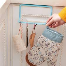 Kitchen Cabinet Towel Bar Metal Over Door Tea Towel Rack Bar Hanging Holder Rail Organizer