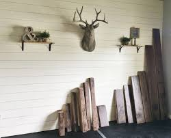 Floors And Decors by Remodelaholic How To Install A Shiplap Wall Rustic Home Office