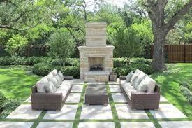 outdoor living spaces as terrific exterior design for futuristic