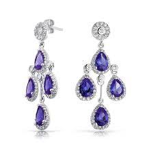 zirconia earrings color crown cubic zirconia teardrop chandelier earrings