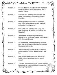 twas the before thanksgiving a thanksgiving reader s theater