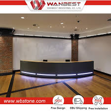 Used Curved Reception Desk Modern Design Used Salon Front Desk Reception Counter L Shaped