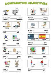 english teaching worksheets comparative adjectives