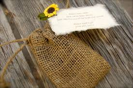 sunflower wedding favors do it yourself plantable sunflower seeds burlap bag wedding