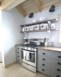 kitchen shelving ideas aluminium handle microwave stainless steel