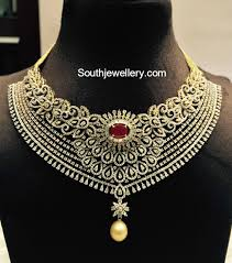 diamond necklace patterns images Top 9 south indian wedding jewellery trends jewellery designs jpg