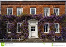 Georgian House by Traditional Georgian House With Wisteria Stock Images Image 1180954