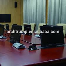 conference table pop up ce rohs fcc pop up lcd monitor motorized lift for conference room