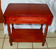 Cherry Drop Leaf Table Willett Furniture Ebay