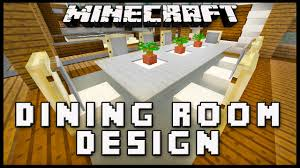 minecraft how to make dining room furniture modern house build