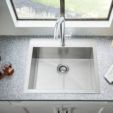Top Mounted Kitchen Sinks by Edgewater Dual Mount 25x22 Stainless Steel Kitchen Sink American