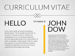 Powerpoint Resume Template Elegant Curriculum Vitae Template For Powerpoint Presentations