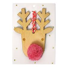 Wooden Reindeer Christmas Tree Decorations by Wooden Reindeer Christmas Tree Decoration Big Little Things