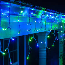 Outdoor Led Icicle Lights Innovation Ideas White And Blue Lights Outdoor Led