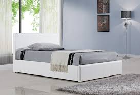 birlea berlin ottoman bed faux leather white small double