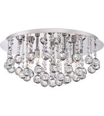 Quoizel Flush Mount Ceiling Light Quoizel Brx1619c Bordeaux 5 Light 20 Inch Polished Chrome Flush