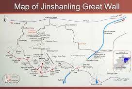 Great Wall Of China On Map by Map Of Jinshanling Great Wall Beijing China