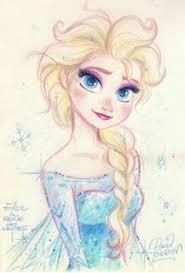 elsa concept sketch frozen character design references
