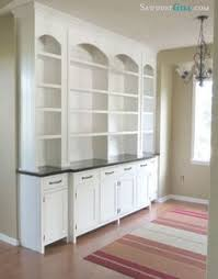Built In Cabinets In Dining Room My Diy Built In Bookcase Wall Is Finished Before U0026 After