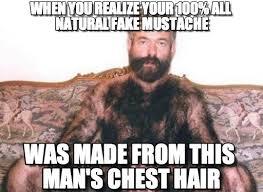Hairy Men Meme - chest hair mustache hairy man meme on memegen