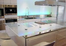 verre de cuisine cuisine bar moderne clair en verre