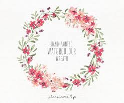 flower wreath watercolor wreath 1 png floral clip by cheesecakeandpi