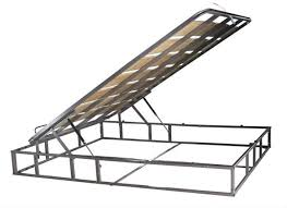 metal storage bed frame with gas lift view storage bed frame with