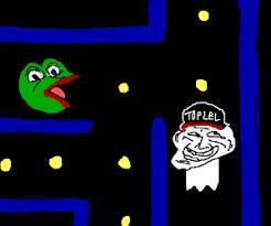 Pacman Meme - kermit s head is pacman