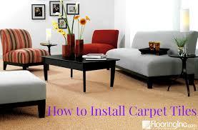 Carpet Tiles For Living Room by How To Install Carpet Tiles Flooringinc Blog