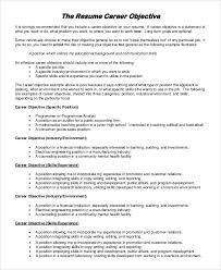 Example Objective For Resume General by Career Objective Resume Example Stylish Design Ideas Sample