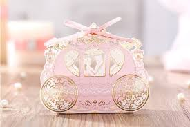 candy containers for favors gold carriage candy box 2016 wedding gift boxes