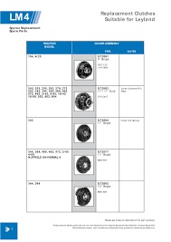 leyland marshall clutch assemblies u0026 components page 22 sparex