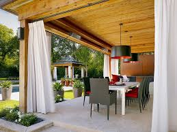 Outdoor Sheer Curtains For Patio Outdoor Sheer Curtains Patio Contemporary With Wood Post