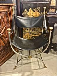 Savanarola Chair Maison Jansen Steel U0026 Brass Savonarola Chairs C 1960 20th C