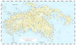 road map of st usvi us islands map creatop me