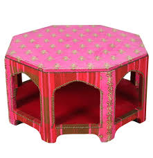 Fabric Coffee Table by Moroccan Style Fabric Covered Coffee Table With Glass Top Ebth