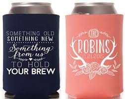 something something new something borrowed something brewed something new koozie etsy