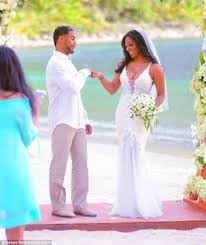 kenya moore wore 12k pallas couture wedding gown daily mail online