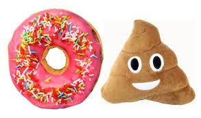 Cushion Donut Emoji 3d Pink Icing Sugar Donut Soft Cushion Pillow Toy Seat