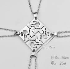 best friends friendship necklace images Bff necklaces for 4 best friends forever puzzle charm necklace jpg