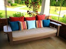 outdoor floating bed outdoor porch bed swing hanging bed plans outdoor floating daybed