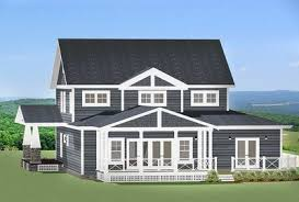 l shaped house with porch craftsman house plan with l shaped porch 46301la architectural