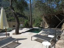 b4153 deia village house with small pool and stunning mountain