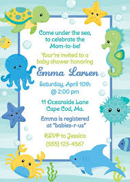 amazing underwater baby shower invitations 57 for simple baby