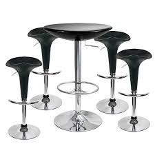 Bar Stool And Table Sets Pod Bar Stool And Podium Table Set Black 8 Ideal Bar Table And