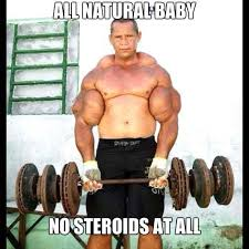 Bodybuilder Meme - injects oil into his arms fitness meme