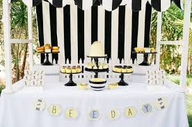 white party table decorations a bumblebee boys birthday party spaceships and laser beams