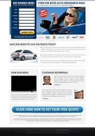 auto insurance landing page design templates landingpagedesign u0027s